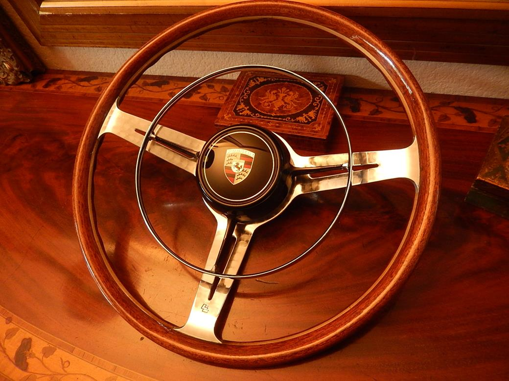 Les Leston Original Porsche 356 B C Wood Steering Wheel