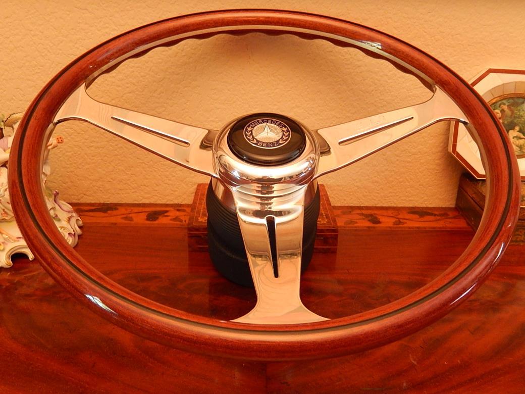 Mercedes r107 350 sl 450 sl 1971 12 76 wood steering for Mercedes benz wood steering wheel